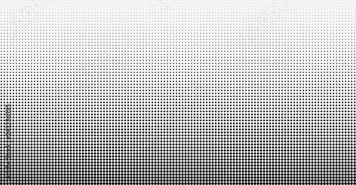 Photo sur Toile Pop Art Halftone gradient vector background. From light to dark dots