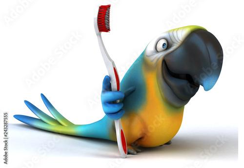 Fototapety, obrazy: Fun parrot