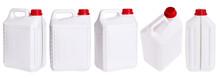Set Of White Plastic Canisters...