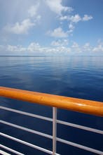 Beautiful Calm Ocean From The Deck Of A Cruise Ship.