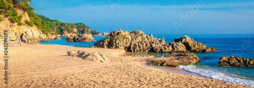 Panorama of beach in Spain, Ibiza