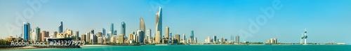 Fényképezés  Panorama of Kuwait City in the Persian Gulf