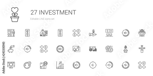 Fotomural  investment icons set