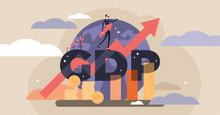 GDP Vector Illustration. Tiny ...