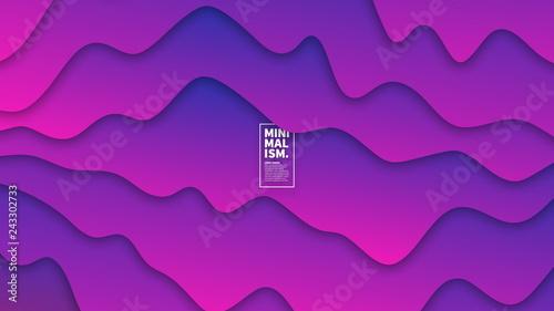 Fotografia, Obraz  3D Abstract Vector Vivid Vibrant Smooth Liquid Curved Lines Background