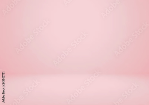 Fototapeta Empty pink studio room vector background. Can be used for for display or montage your products obraz
