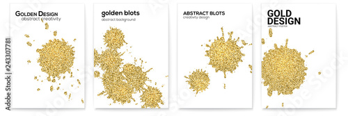 Set of covers with splashes and blots Canvas Print
