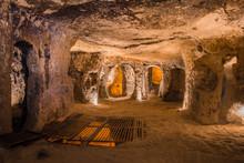 Explore Kaymakli Underground City In Cappadocia, Turkey.