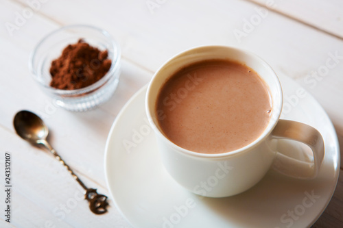 Foto op Canvas Chocolade cup of hot cocoa drink, hot chocolate