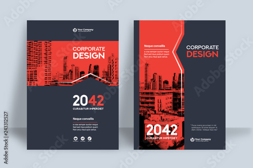 Photo City Background Business Book Cover Design Template