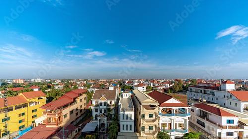 Fototapeta premium Skyline z Siem Reap w Kambodży
