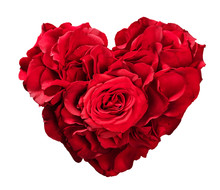 Red Roses In Heart Shape Isola...