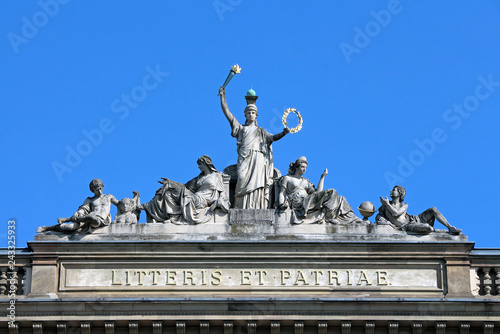 Foto op Canvas Historisch mon. Strasbourg University Statues