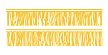 Gold Fringe. Seamless Decorative Element. Textile Border.