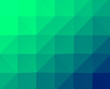 canvas print picture - Low Poly Abstract Green Gradient Background