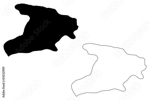Fotografie, Obraz  Alborz Province (Provinces of Iran, Islamic Republic of Iran, Persia) map vector