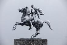 Heavy Snowfall At The City Cen...