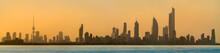 Skyline Of Kuwait City At Suns...