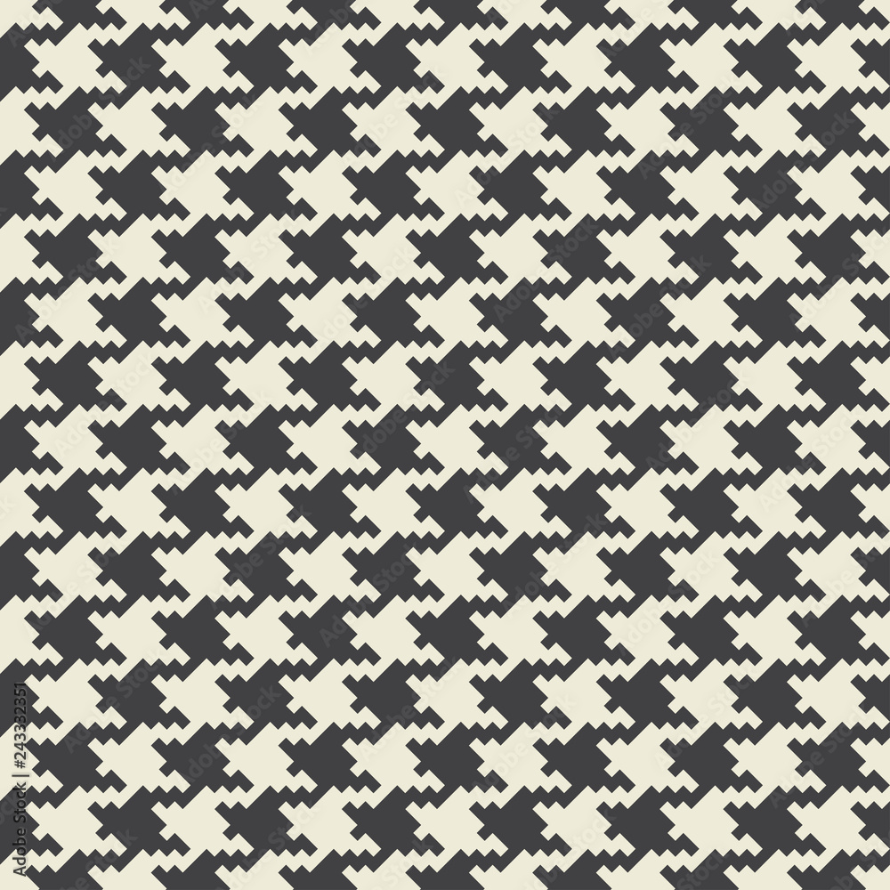 Photo  Vector houndstooth fabric seamless pattern