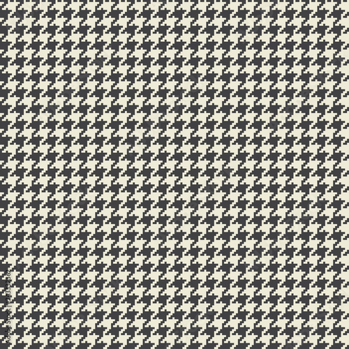Vector houndstooth fabric seamless pattern Canvas Print