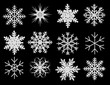 canvas print picture - snowflake on the black ba ckground