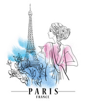 Paris Vector Illustration.