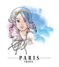 Paris Vector Illustration.