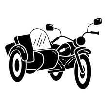 Motorbike Tricycle Icon. Simple Illustration Of Motorbike Tricycle Vector Icon For Web Design Isolated On White Background