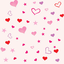 Seamless Love Background For Valentine's Day