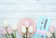 Kitchen Cutlery With Plate And...