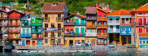 Fotografie, Tablou Fishermen town of Pasaia at the Basque Country.