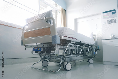 Fotografie, Obraz  Empty hospital bed in hospital ward