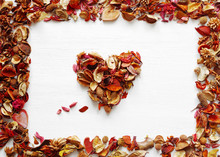 Heart From Dried Fragrant Flow...