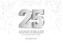 Anniversary 25. Silver 3d Numb...