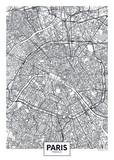 Fototapeta Fototapety Paryż - City map Paris, travel vector poster design