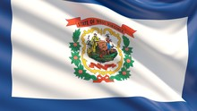 State Of West Virginia Flag. Flags Of The States Of USA.