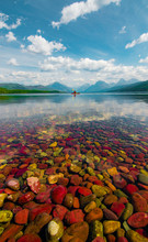 Kayaking On Lake McDonald In G...