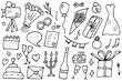 Wedding symbols set. Vector design illustration.