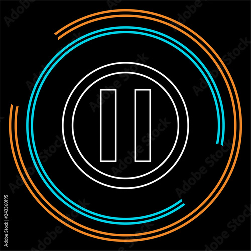 Fotografie, Obraz  vector pause button icon - media symbol