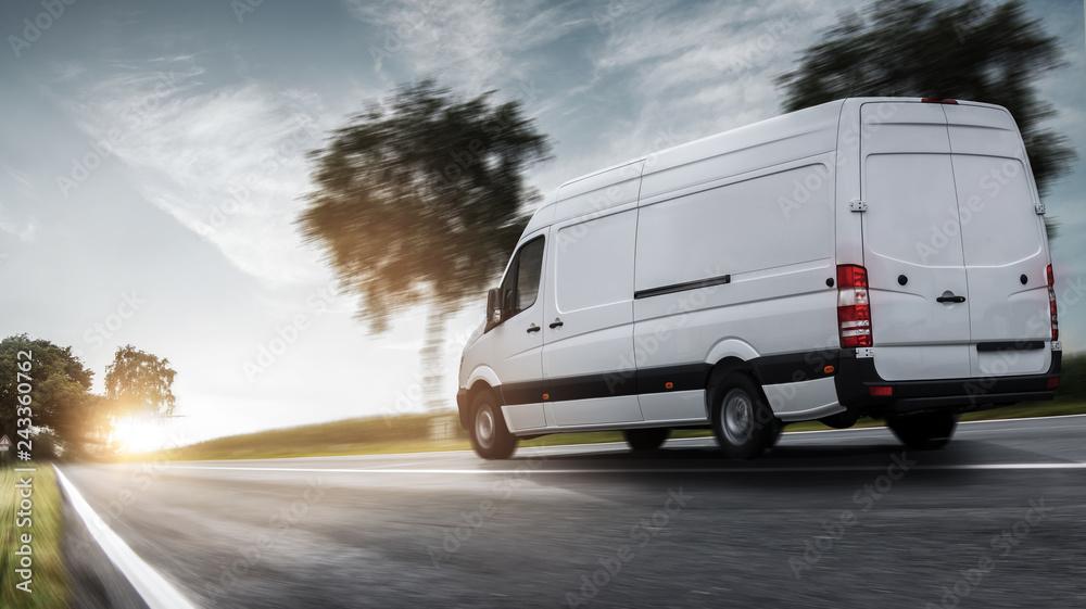 Fototapety, obrazy: Lieferwagen Zustellung
