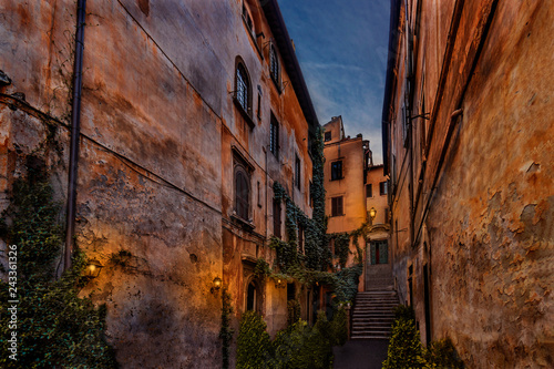 Canvas Prints Narrow alley Gasse in Rom
