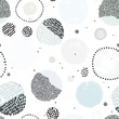 Cute seamless abstract pattern with circle shapes and dots. Creative fashion texture. Perfect for kids fabric, textile, nursery wallpaper. Vector illustration. Abstract space. Pastel colors.