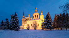 Winter View Of Ancient Church In Great Ustyug
