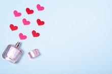 Flat Lay Arrangement Of Hearts...