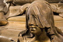 Hooded Woman In Bronze On Sarc...