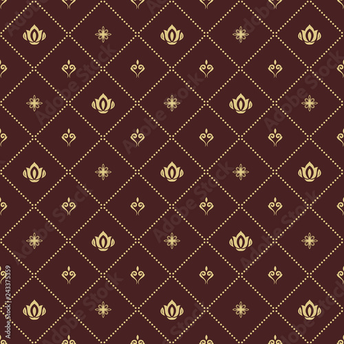 Foto  Seamless brown and golden pattern
