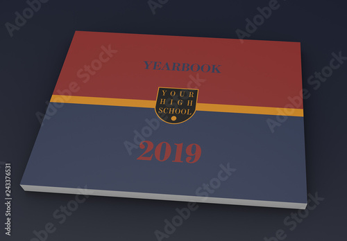 Red Gold And Blue Yearbook Layout