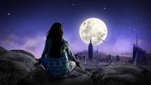 Meditation Im Mondschein