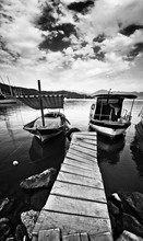 Wooden Pier And Boat