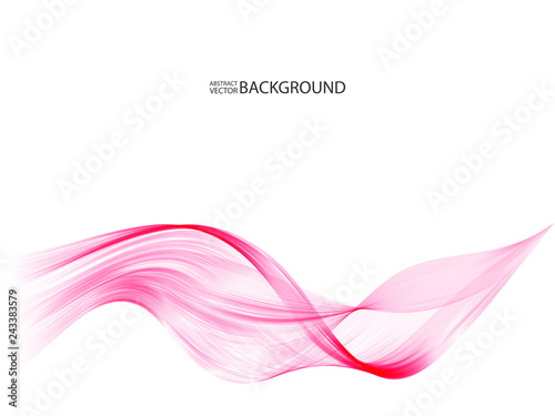 Poster Abstract wave Vector Abstract pink curved lines background. Template brochure design.